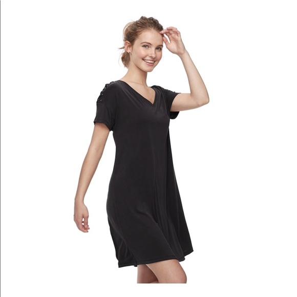 912fc07f7f6ca Juniors Mudd Lace-up Shoulder Dress